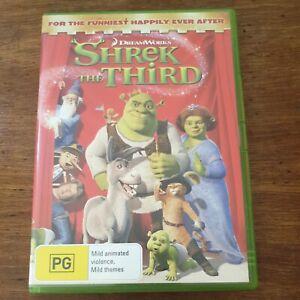 Shrek the Third Dreamworks DVD R4 Like New! FREE POST