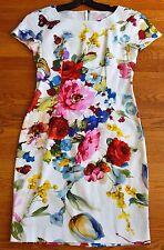Dolce & Gabbana Floral Butterfly Print Stretch Cap Sleeve Dress US 0 2 4 / IT 38