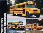 1982 Chevrolet Chevy School Bus Chassis Original Sales Brochure