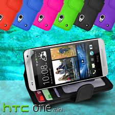 Photo ID Wallet Flip Leather Case Cover for HTC ONE Mini M4 + SP card slot 1mini