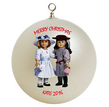 Personalized American Girl Best Friends Samantha and Nellie Christmas Ornament