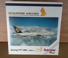 NEW HERPA WINGS 511124 SINGAPORE AIRLINES BOEING 777-200 JUBILEE 50 ANNIVERSARY