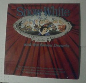 *SEALED* WALT DISNEY SNOW WHITE VINYL RECORD DIE CUT GATE FOLD COVER1966 ST3906
