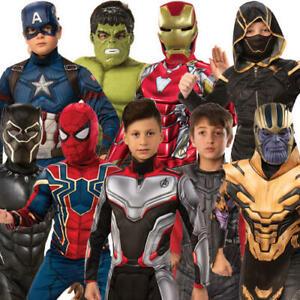 Deluxe Avengers Endgame Boys Fancy Dress Marvel Comics Superhero Kids Costumes