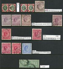 Great Britain 1902-10 SUPERB collection  Edward VII De La Rue MH/used Cat £8354