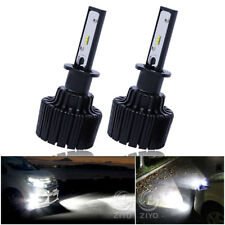 H3 LED Fog Lights 60W 9000Lm 6000K Xenon White DRL Driving Bulbs-2 Yr Warranty