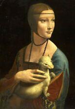 'La Dama con l''Ermellino quadro - Stampa d''arte su tela telaio in legno'