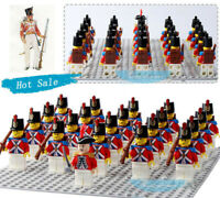 21PCS American Revolutionary War Mini Figure Building Block UK Marine Corps Toys