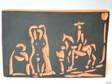 PABLO PICASSO Authentic Madoura Ceramic Femmes at Toreador tile plaque Ramié 541