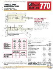Equipment Brochure - Ellicott - 770 - Dragon series - Dredge - 1978 (E2822)