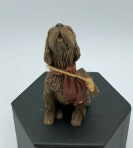 "Vintage Sarah's Attic 1990 ""Waldo"" Dog Spaniel Signed Numbered Figurine"