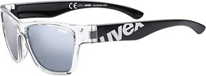 uvex Unisex-Youth, sportstyle 508 sun glasses, black clear, one size