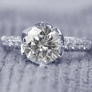 Summer 3 CT Round D/VS2 Engagement Wedding Diamond Ring 14k White Gold Finish