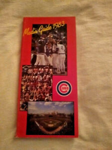 1983 Chicago Cubs Press Media Guide