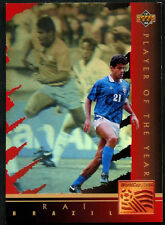 Rai, Brazil, Player Of The Year #WC1 World Cup USA '94, (Eng/Ger) Card (C386)