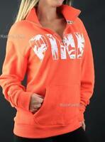 Victoria's Secret PINK Half Zip Mockneck Boyfriend Palm Sweatshirt Pullover