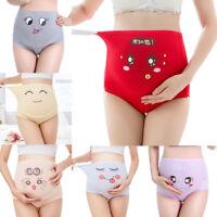Cartoon women's cotton pregnant high waist briefs underwear maternity panties E#