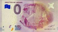BILLET 0  EURO GROTTES DE LACAVE  FRANCE   2018  NUMERO 100