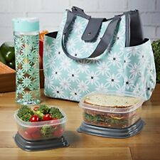 Fit & Fresh Women's Westport Insulated Lunch Bag with Matching Reusable Conta...