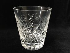 """Vintage Heavy Cut Crystal Floral Etched Glass, 3 3/4"""" Tall x 3 1/4"""" Diameter"""