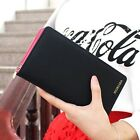 Women Leather Clutch Wallet Short And Long Pu Purse Coin Card Hold Handbag