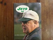 1971 NY Jets Official Football Yearbook Weeb Ewbank on cover Joe Namath on back