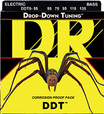 DR Strings DDT5-55 DROP DOWN TUNING Bass Guitar Strings - Heavy - 5-String Set
