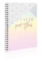 "Retro Pastel ""I've So Got This"" A4 Spiral Bound Twin Wire Hard Cover Notebook"
