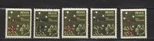 "BRAZIL - C55 - C59 - MH -1944 - ""AERO"" & NEW VALUE O/P ON SOUTHERN CROSS & CHILD"