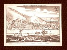 Heidelberg Baden-Württemberg Germania Incisione di Merian Matthäus 1640 Ristampa