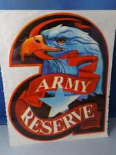 USA ARMY RESERVE EAGLE STICKER DECAL LARGE VINTAGE ADVERTISING SOUVENIR