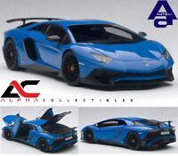 AUTOART 74559 1:18 LAMBORGHINI AVENTADOR LP750-4 SV BLUE LE MANS/BLUE