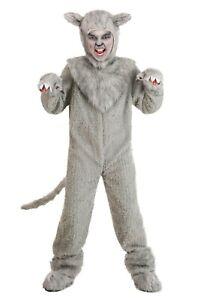 Kids Grey Wolf Werewolf Direwolf Costume Size S M (Used)