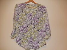 Womens Top or Blouse Size PM Button Down Sheer by Liz Claiborne Petite
