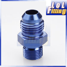 AN 3 -3AN to 1/8'' NPT Straight Adapter Pipe Fuel Oil Air Fitting Aluminum Blue