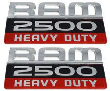 2 NEW Ram Pick Up Truck 2500 Heavy Duty Front Door Logo Emblem Badge Nameplate