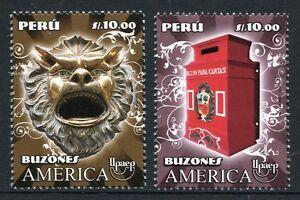 Peru 2011 Briefkästen Letter Boxes UPAEP Postfrisch MNH