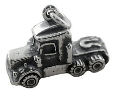 Big Rig Truck Charm Sterling Silver Pendant 3d Semi Vehicle Transportation