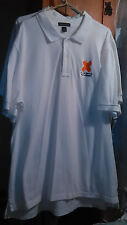 Lot of 3 White Land's Lands End Polo Shirts XL Security Guard Event Work