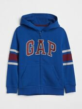 NWT GAP KIDS BOYS LOGO zip hoodie jacket blue gray stripe   u pick size