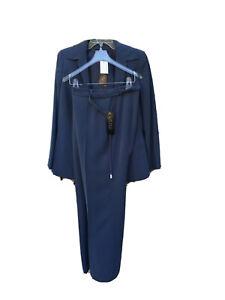 Kasper Women Pant Suit Size 8 Gray NWT