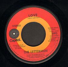 """LETTERMEN - Love (1971 US VINYL SINGLE 7"""" COVER JOHN LENNON SONG)"""