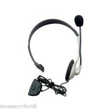 White Headset Headphone Earphone with Microphone for Microsoft Xbox 360 Live