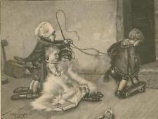 Nordpolfahrt.N.e.Gemälde v.J.Kleinmichel.Holzstich 1891