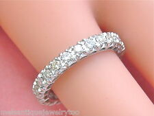 VINTAGE .95ctw BRILLIANT DIAMOND PLATINUM ETERNITY BAND RING 1950 size 7.5