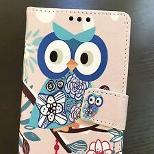For LG K7 / Tribute 5 / Treasure - Card Wallet Money Pouch Case Cover Flower Owl
