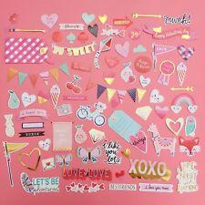 78x Cute Ephemera Embellishments Stickers Craft Cardmaking Scrapbooking Love Ect