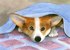 ACEO art print Dog 127 Pembroke Welsh Corgi from painting by L.Dumas
