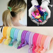 10pcs Lovely Women Knotted Elastic Hair Band Rope Ponytail Holder Hair Ties*