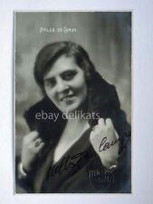 AUTOGRAFO Autograph NELLA DE CAMPI attrice cinema muto silent movie foto Vaghi